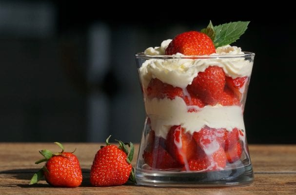 coffee recipe strawberry cream